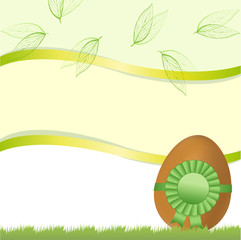 Easter card with egg and tape