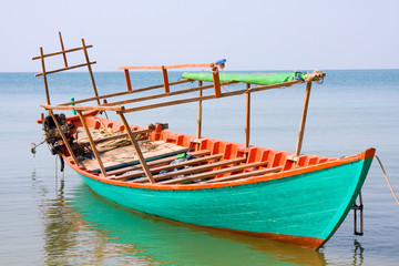 Fishing boat . Cambodia .