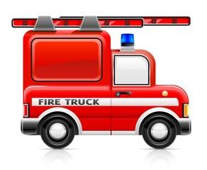wred fire truck vector