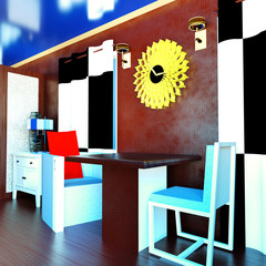 Modern interior - living room