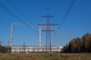 View on the Estonian power station