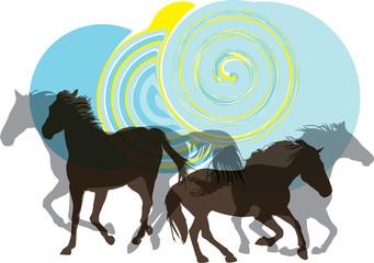 Papier Peint - Horse vector illustration