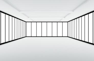 Interno vuoto con finestre da arredare