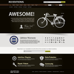 Web Design Website Elements Dark Brown Template