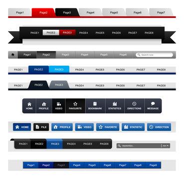 Web Design Menu Navigation Bar Website Header Element