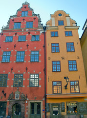 square in old  downtown of Stockholm, Sweden