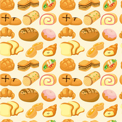 seamless bread pattern