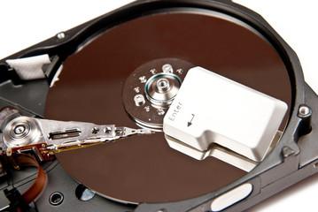 Enter on hard disk