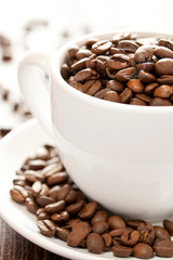 Kaffeebohnen in Tasse
