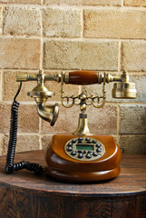 vintage luxurious telephone old fashion