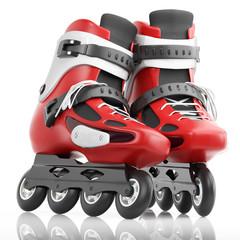 Roller Skates Red
