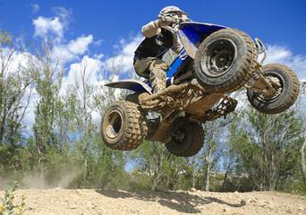 blue quad jumping