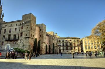 Place de la cathédrale de Barcelone