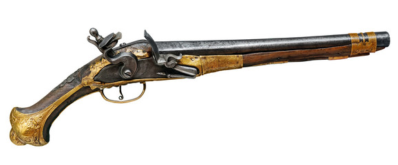 Real pistol XVII th, clipping path included