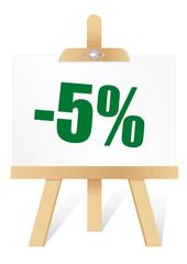 chevalet -5%