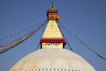 Boudhanath Stupa, Buddhist temple in Kathmandu, Nepal.