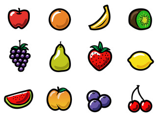Cartoon Fruit Icons