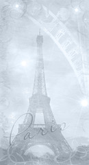 Textured background eiffel tower