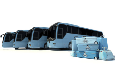 Coach bus travelling