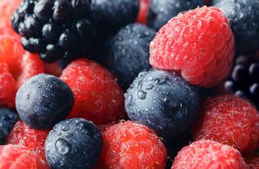 Raspberries & Blueberries