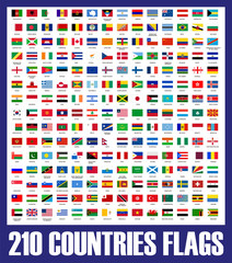 210 countries flags