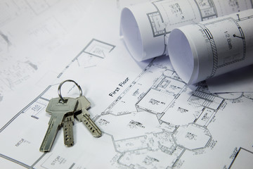 bunch of keys on the house plan