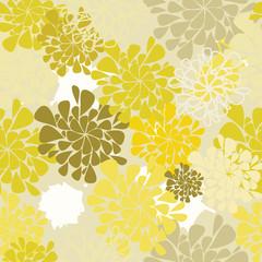 seamless flower yellow background