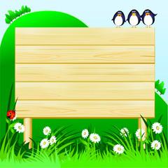Cartello in legno - Wooden sign