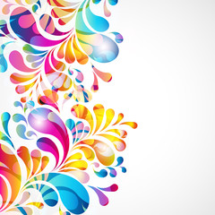 Abstract background with bright teardrop-shaped arches.