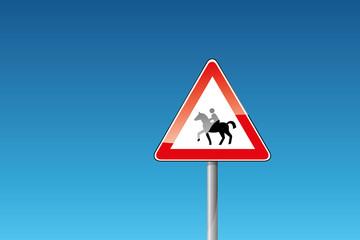 Verkehrszeichen Reiter Reitweg