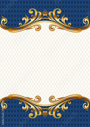 Vector ornate golden royal & luxury frame\