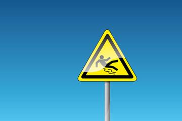 Warnung vor Rutschgefahr