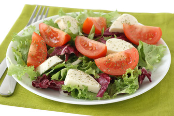 salad with cheese mozzarella