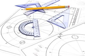 Engineering drawing equipment
