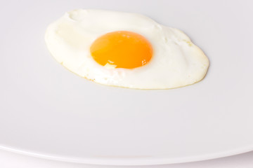 fried egg on the plate