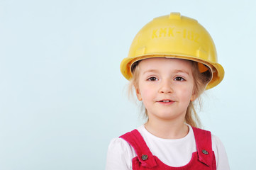 girl with helmet