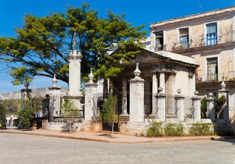 Old spanish building of  Templete in Havana