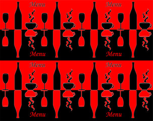 Template of menu for restaurant or coffee shop
