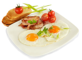 English Breakfast isolated on white background