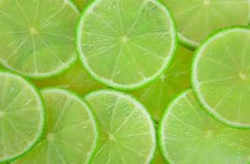 Scattered limes background