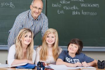 lerngruppe mit lehrer
