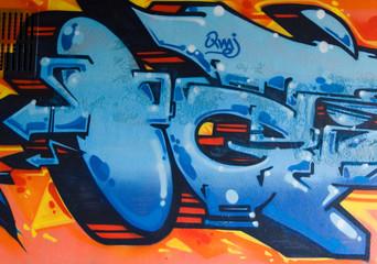 Graffiti Blue Gun