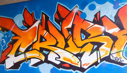 Graffiti Orange Tag