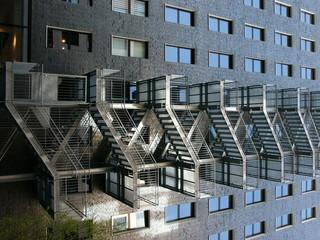 Feuertreppe an einem Bürogebäude in Frankfurt am Main
