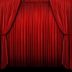 Wall Mural - Red Stage Curtain
