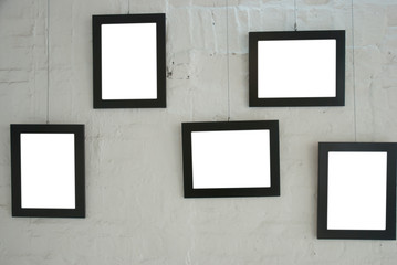 frame on shabby wall