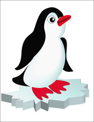 penguin on block of ice