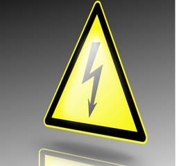 Warnzeichen elektrische Spannung