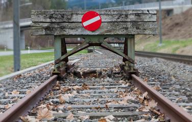 wooden buffer stop concept