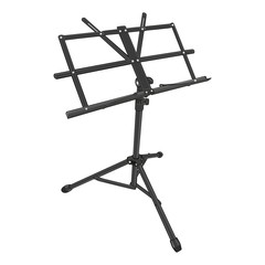 fully editable vector illustration of isolated music stand